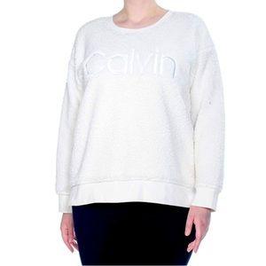 Calvin Klein Sherpa Crewneck Sweater Sweatshirt